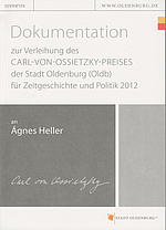 Cover der Dokumentation 2012. © Stadt Oldenburg