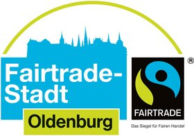 Logo Fairtrade-Stadt Oldenburg. Quelle: TransFair e. V.